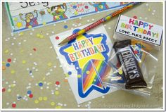 Cute! Do this when it is a child's birthday in the classroom!