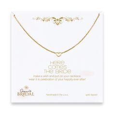 bride heart necklace