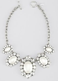 Ann Taylor - Oval pearlized statement necklace