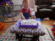 The Canadian Domestic Wannabe: Tot School: Playing with Shaving Cream