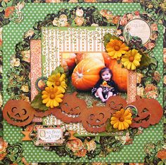 Once Upon a Time -  G45 An Eerie Tale - Scrapbook.com- a charming autumn layout using An Eerie Tale collection by Graphic 45