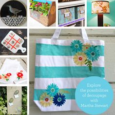 Decoupage Ideas for Martha Stewart Crafts® Decoupage | Plaid Enterprises