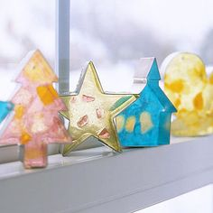 candy colors, christmas candy, candi light, party looks, cookie cutters, candy decorations, cooki cutter, light catcher, diy christmas