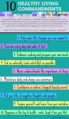 10 Healthy Living Commandments