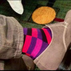 Mismatched men's socks!