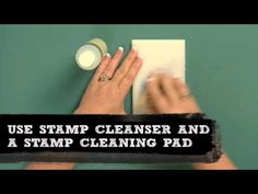 How to: Properly Clean a Stamp #MichaelsStores