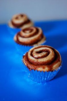 individual cinnamon rolls... baked in cupcake liners, cool!