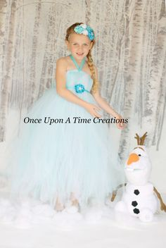 Elsa Inspired Frozen Princess Tutu Dress - Birthday Outfit, Photo Prop, Halloween Costume - 12M 2T 3T 4T 5T 6 7 8 10 12 - Disney Inspired on Etsy, $39.99