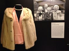 "Purdue Dean of Students Beverley Stone's fur coat in Purdue Archives exhibit--""Quest for Equality."""