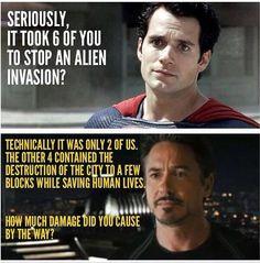Man Of Steel vs the Avengers