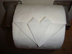 How-to toilet paper heart origami