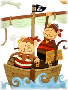 mokey pirat, pirat stuff, pirat room, someday pirat