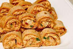 Game Day Food: Chicken Enchilada Rollups