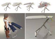 Mesa de passar roupa criativa .