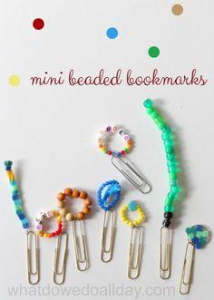 Good kid-made gift, too. Super cute mini bookmarks!