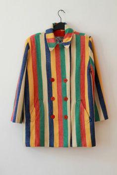 Vintage Kenzo - Multi Color Coat Size M | eBay