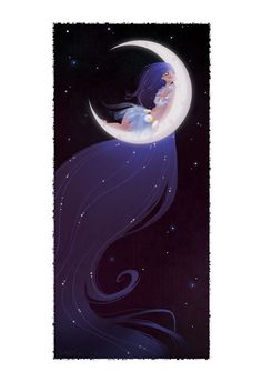 Hina is the Hawaiian goddess of the moon, death, and rebirth. Hina lived in the sea and was tired of her toilsome underwater existence, so she left the water and escaped to the moon.