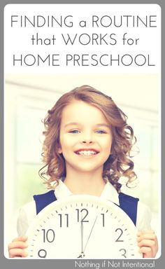 Finding a homeschool preschool routine or schedule that works for you.