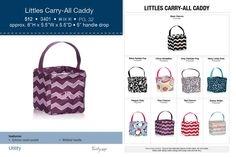 littles carry-all caddy - fall 2014 Love the navy dots and OMG the snowmen!!!, can't wait for the book!
