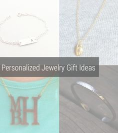 Personalized Jewelry Gift Ideas - Gift ideas for him, Gift ideas for her. Handmade and made in America. Monogrammed jewelry. Hammered jewelry. Silver bracelet. Gold Necklace. Initial Necklace. http://aftcra.com/blog/general/personalized-jewelry-gift-ideas-for-christmas/