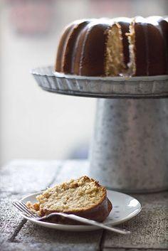 date bunt cake with honey clove glaze
