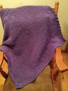 Loom Knit Spring Stroller Blanket pattern