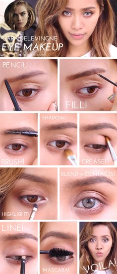 Cara Delevingne #beauty #tutorial from @Michelle Flynn Phan | #makeup #brows #nyfw #caradelevingne