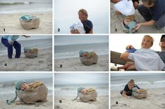 Behind the scenes of a beach newborn session!  www.soulshinephotography.net