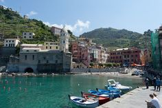 The town of Vernazza in Liguria, Italy