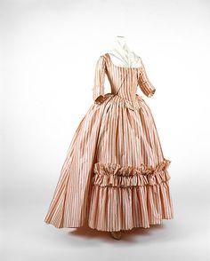 Dress (Robe à l'Anglaise) French, silk, 1785-87