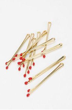 Matchstick bobbi pins