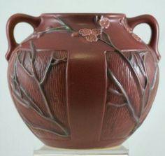 Roseville Pottery - Experimental - Cherry Blossom on Earlam shape