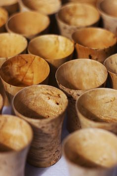 **Wooden cups