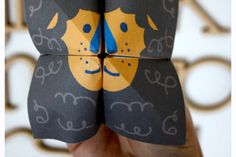 Juguem? lion, hand puppets, free download, craft activities, child crafts, origami, printabl, paper toys, kid