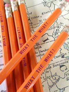 What the What? Pencil 6 Pack by Earmark Social Goods » Oh how I miss Liz Lemon!