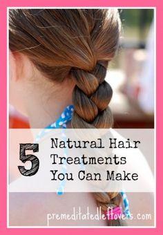 5 Natural Hair Treatments you can make at home