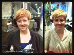 From blonde to apricot a subtle fall change. Color by Marni.   Cut by Maureen