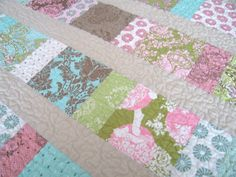 I love making quilts...easy quilts that is...and here's one of those patterns