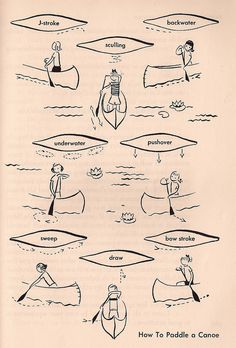 How to Paddle a Canoe / 1954 Girl Scout Handbook
