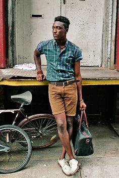short sleeved oxford shirt, caramel corduroy shorts, suede bucks (men's fashion)