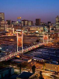 We'd love to visit historic Johannesburg! southafrica, mandela bridg