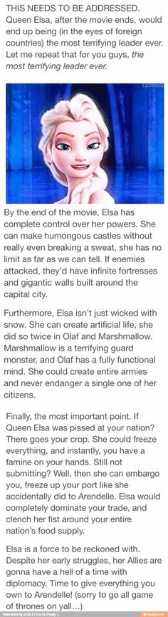 Elsa gets to be epic