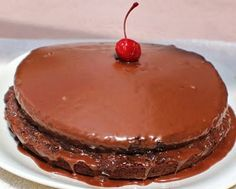 Chocolate on Chocolate Boston cream pie~