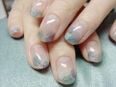 Super chic watercolour nail art by Japanese nail salon, Nail Common.