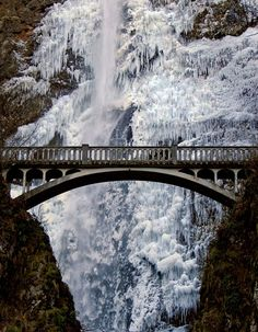oregon, winter, waterfal, beauti, travel