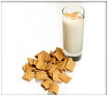 Shake with ice and strain into a shot glass. Garnish with a piece of Cinnamon Toast Crunch cereal