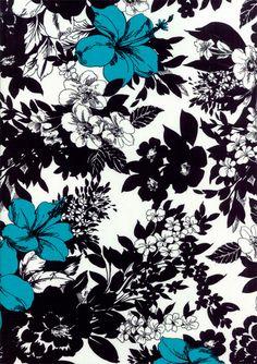 illustration, art, line drawing, black, white, blue, flower, pattern, design,