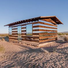 Lucid Stead installation by Phillip K Smith III gives the illusion of invisibility to a desert cabin mirror, desert, log cabins, smith iii, hous, art installations, artist, light installation, light art