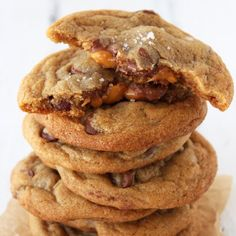 Salted Caramel Milk Chocolate Chip Cookies - everyone LOVES these!