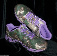 NIB~ Womens Realtree Girl Camo Mamba Purple/ Xtra Green Tennis Shoe NEW 2014 #RealtreeGirl #Tennis
